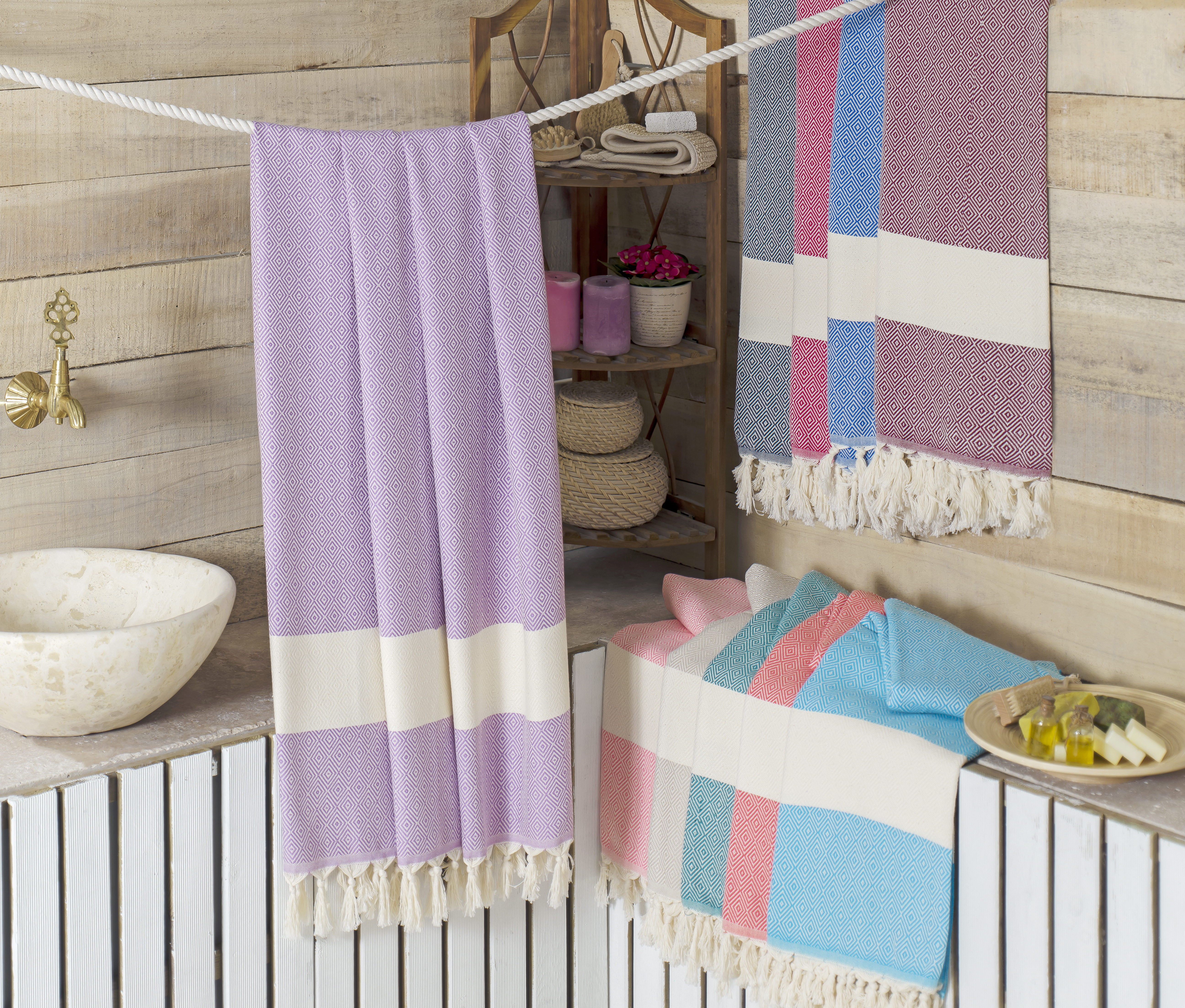 Diamond Peshtemal - Traditional Hammam Towel