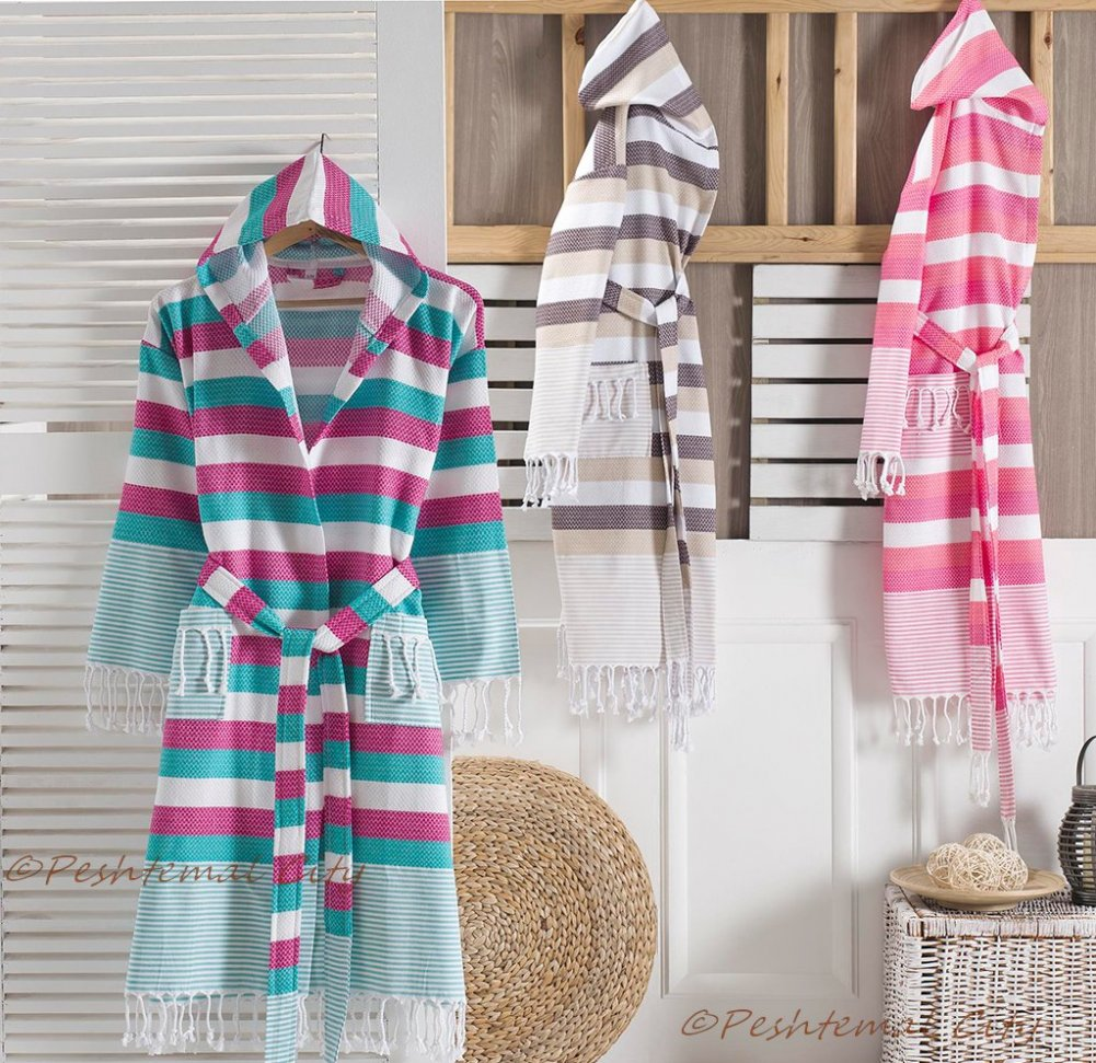 Pamukkale Bathrobe - Peshtemal Bathrobe