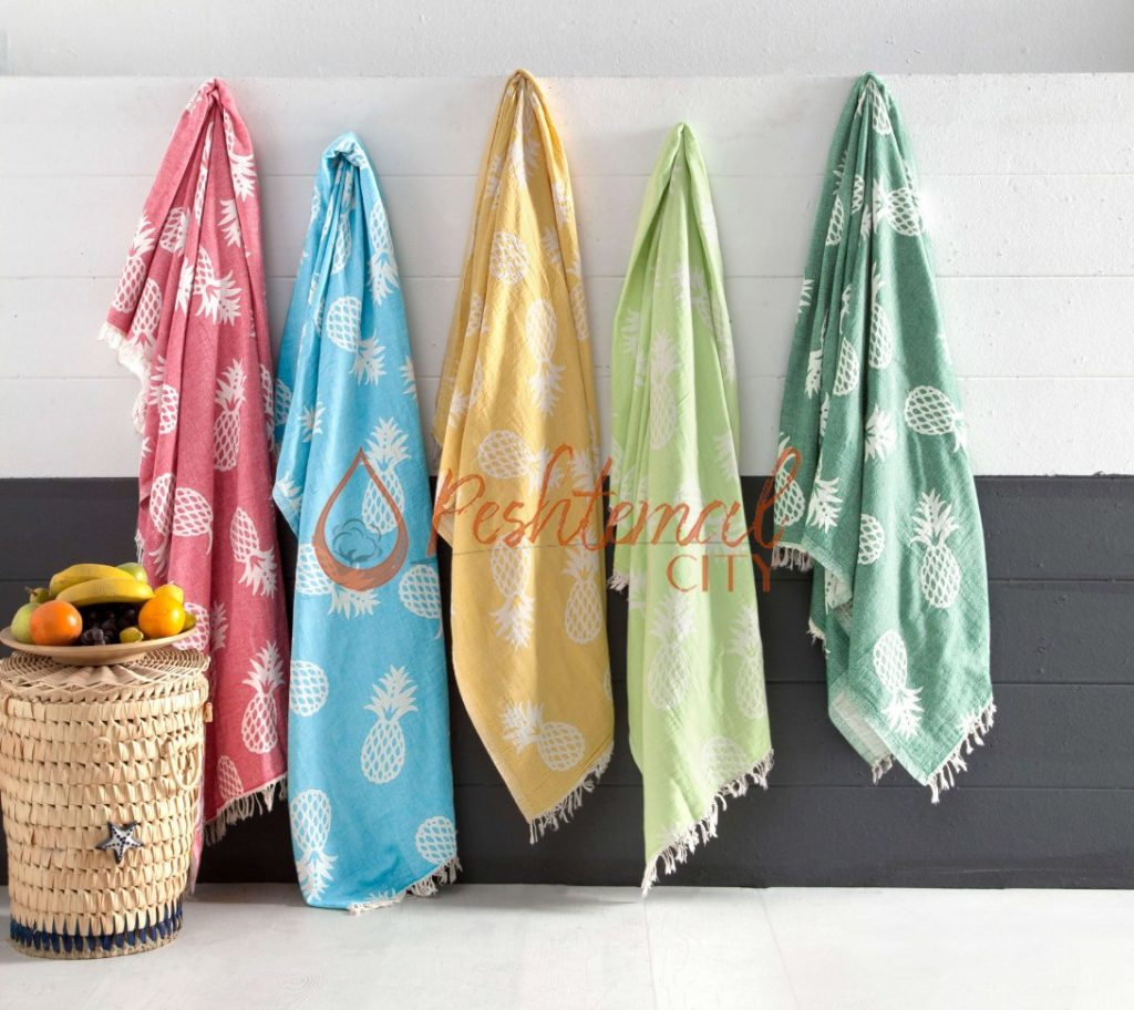 Pineapple Turkish beach towels