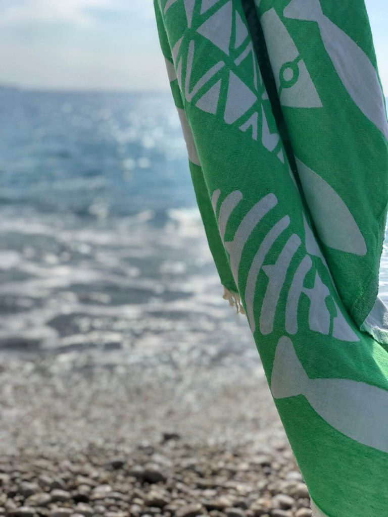 Green Turkish Beach Towel