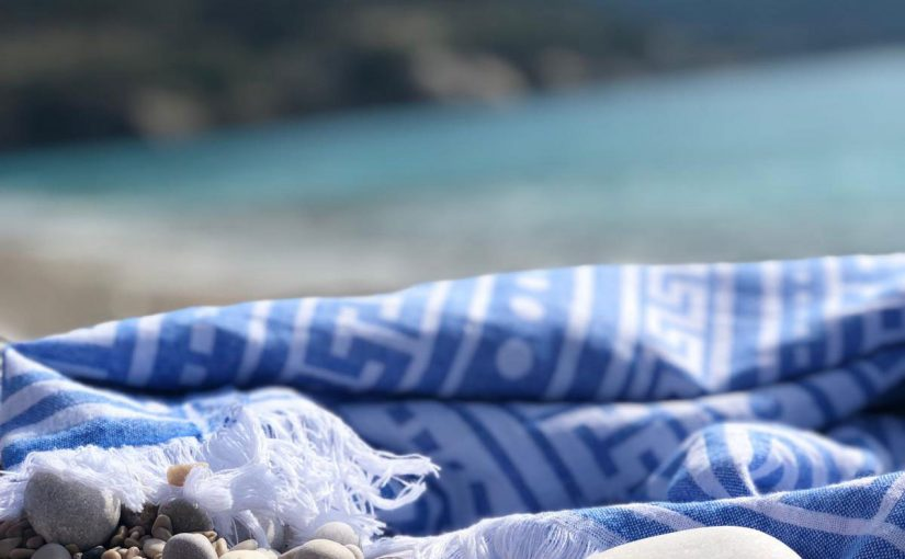 Blue Turkish Beach Towel Exporter Peshtemal City